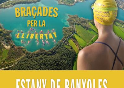 Braçades per la llibertat a l'estany de Banyoles