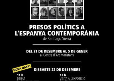 Exposició presos polítics Santiago Sierra